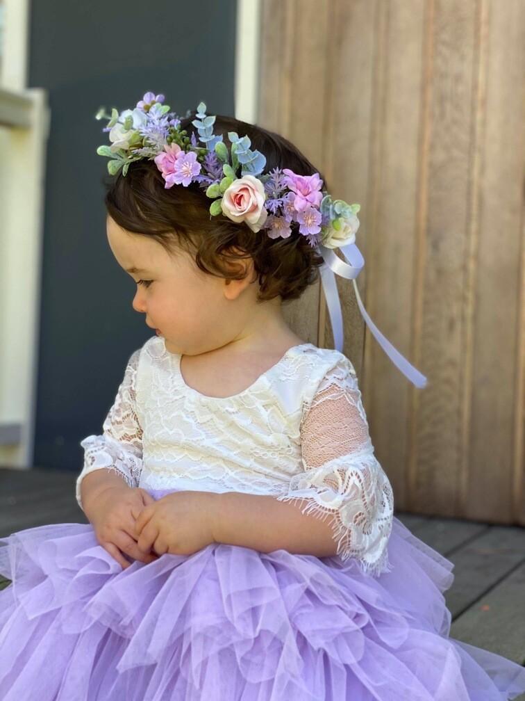 Jasper Girls Lilac Flower Crown