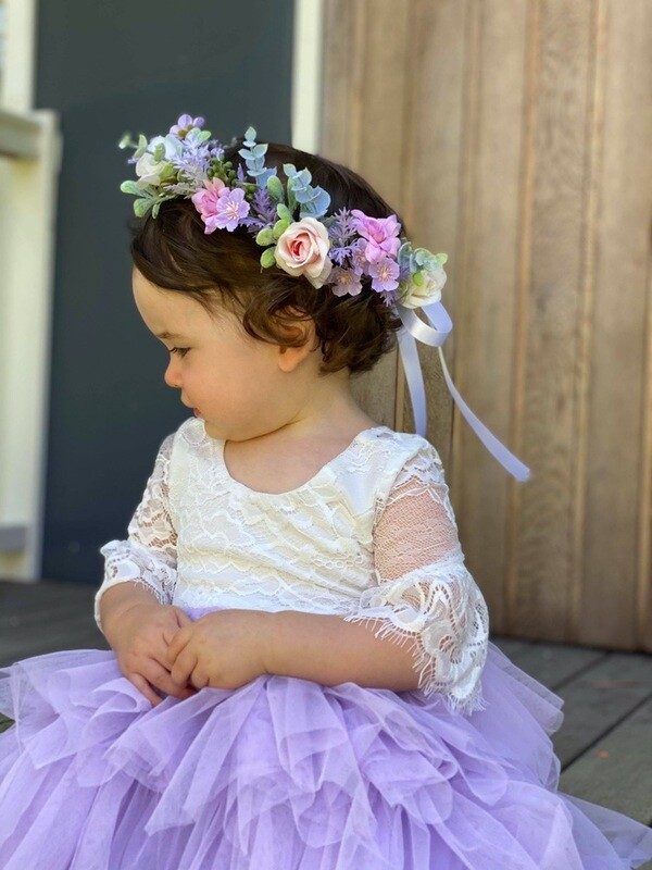 Jasper Girls Lilac Flower Crown