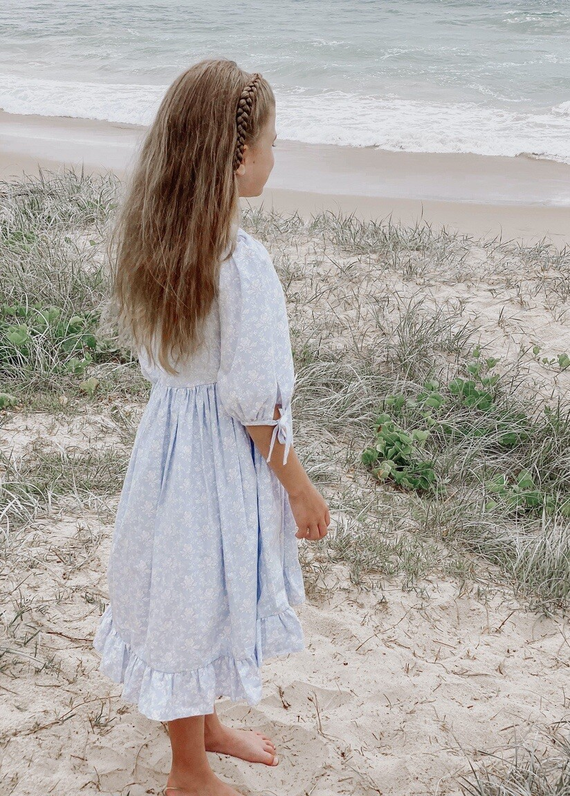 Matilda Girls Dress | Cornflower