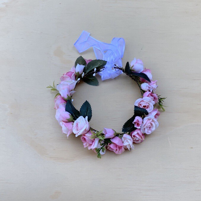 Sadie Girls Pink Flower Crown