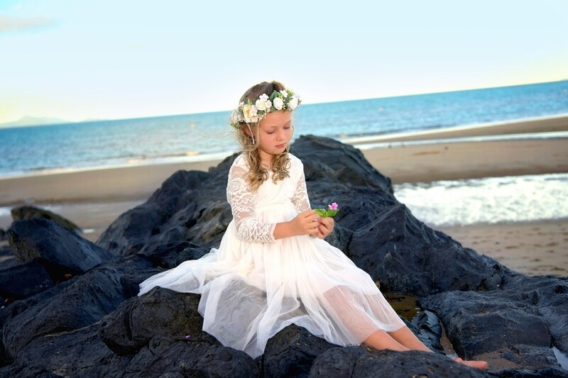 Magnolia Girls White Flower Crown