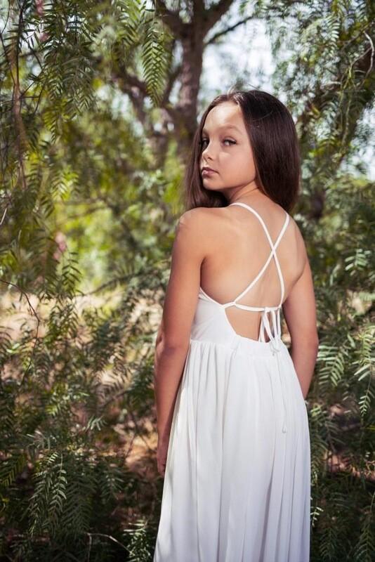 Sofia French Chiffon Dress | White