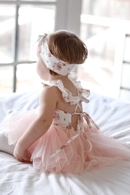 Eloise Peach Floral Baby Tutu Dress