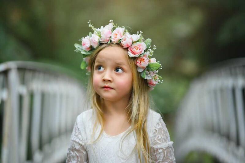 Amelie Girls Flower Crown