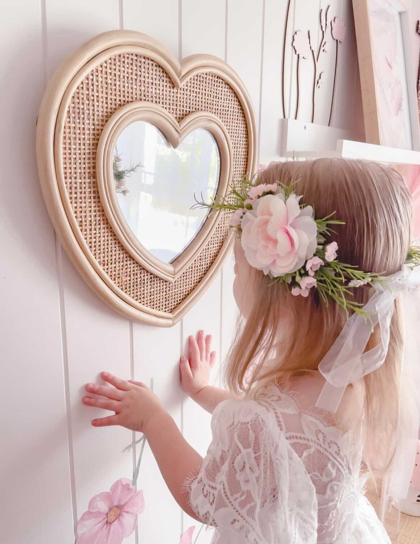 Marla Girls Boho Soft Pink Flower Crown