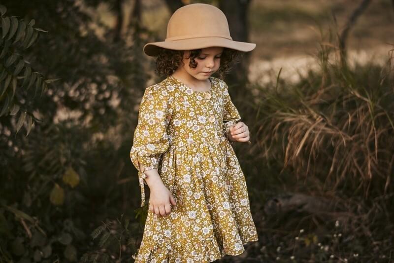 Marilyn Girls Winter Button Dress