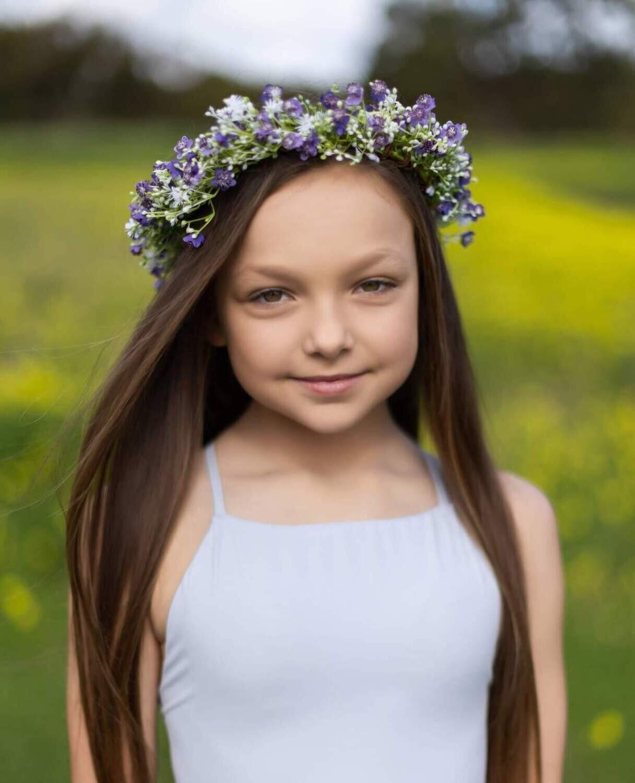 Purple Sprite Flower Crown