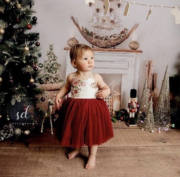 Aria Girls Tutu Dress - Burgundy