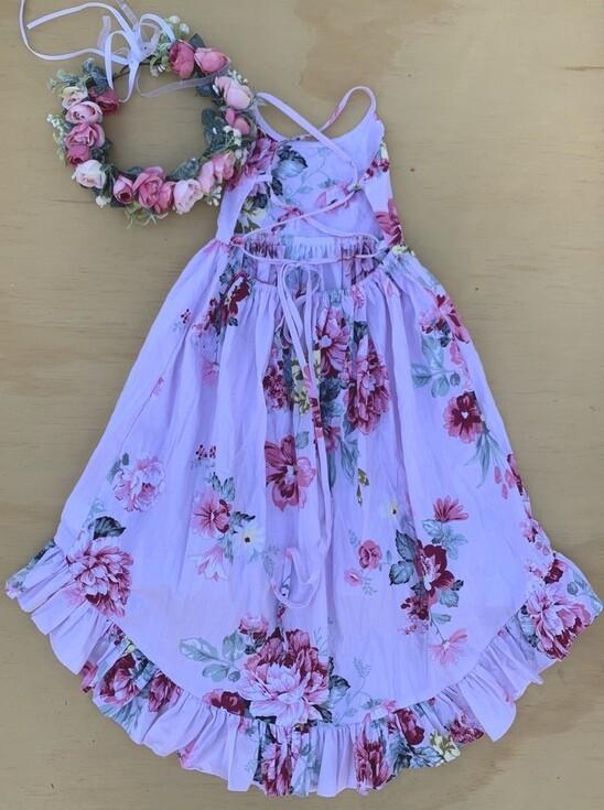 Florence Hi Low Dress - Pink Haze
