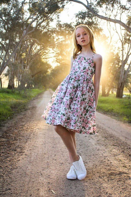 Lillie Girls Floral Dress