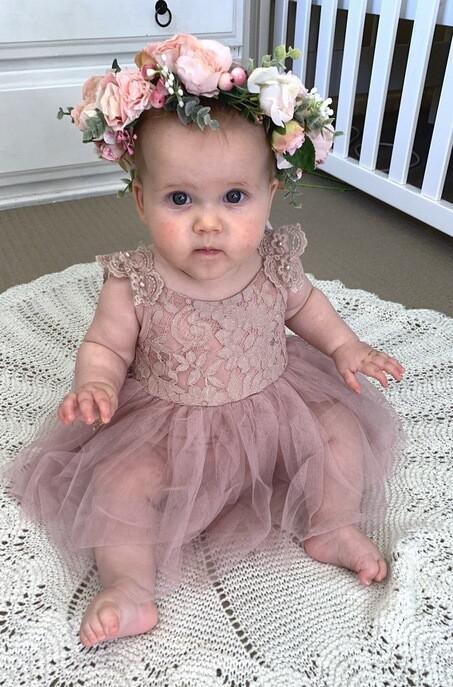 Enchanted Angel Dusty Pink Baby Girls Tutu Dress