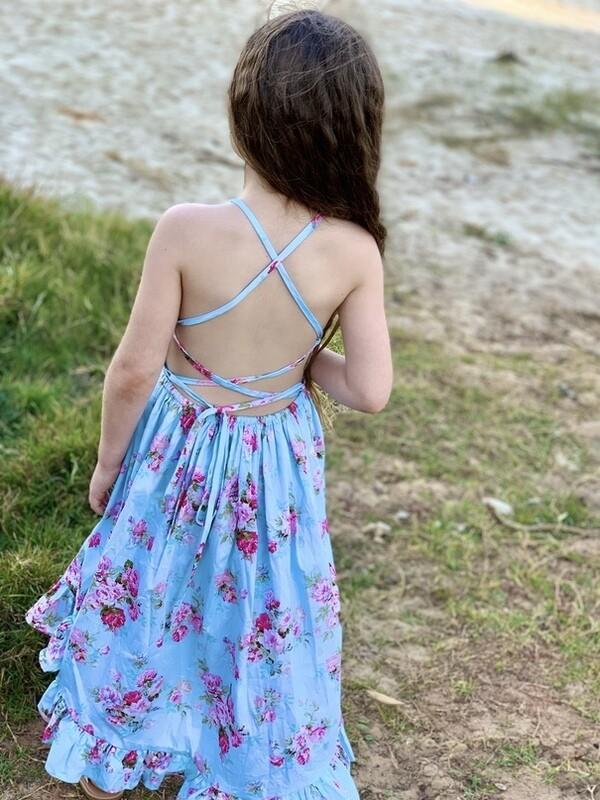 Florence Hi Low Dress - Cornflower