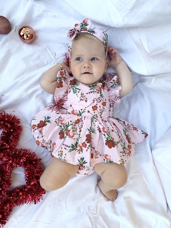 Joelle Baby Girls Christmas Romper