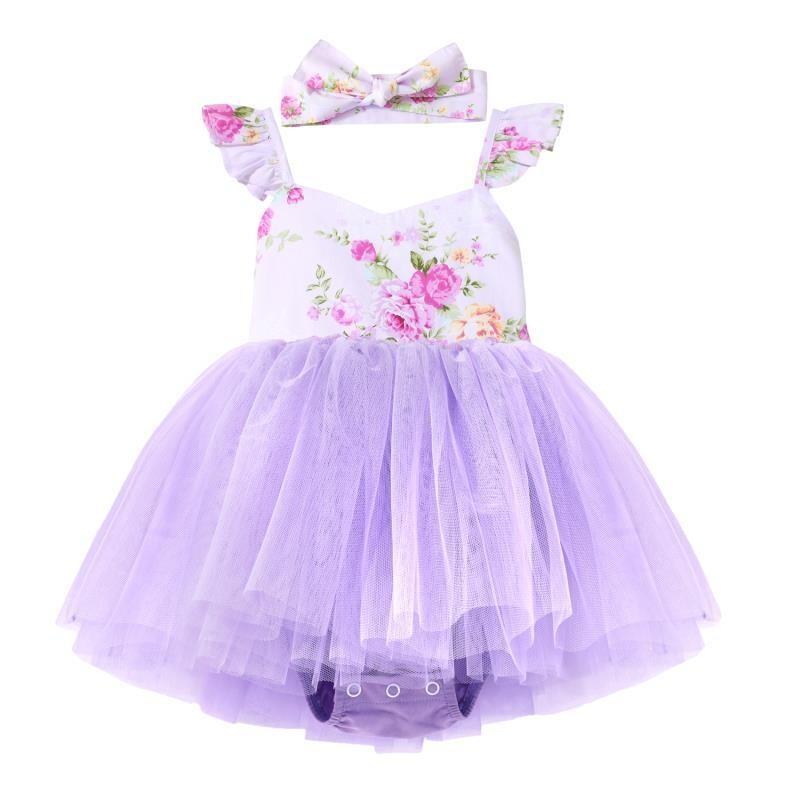 Zara Purple Baby Girls Tutu Dress