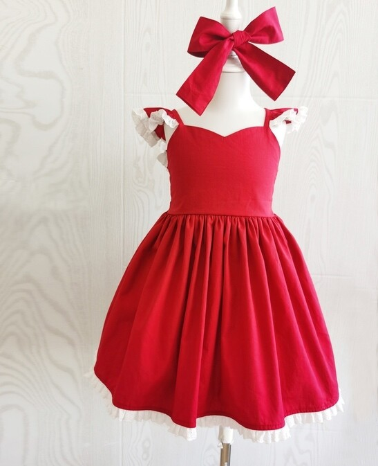Rosie Girls Red Christmas Dress
