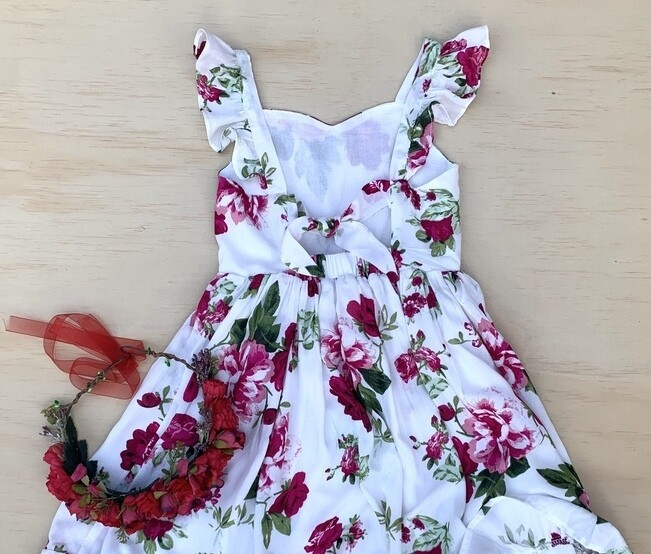 Josephine Dress - Rose (STRAIGHT HEM)