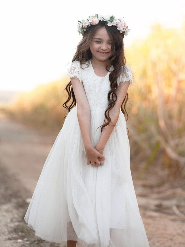 Serenade Girls Ivory Lace Dress