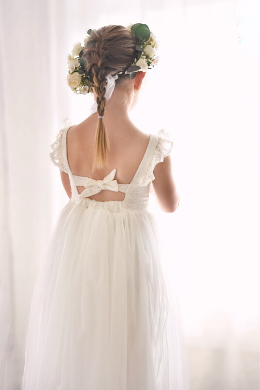 Lily Rose White Lace Dress