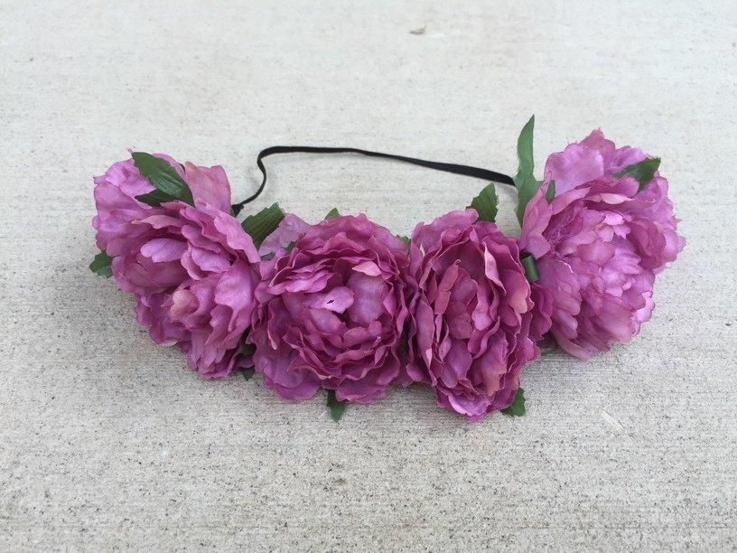 Dusky Purple Peony Headband