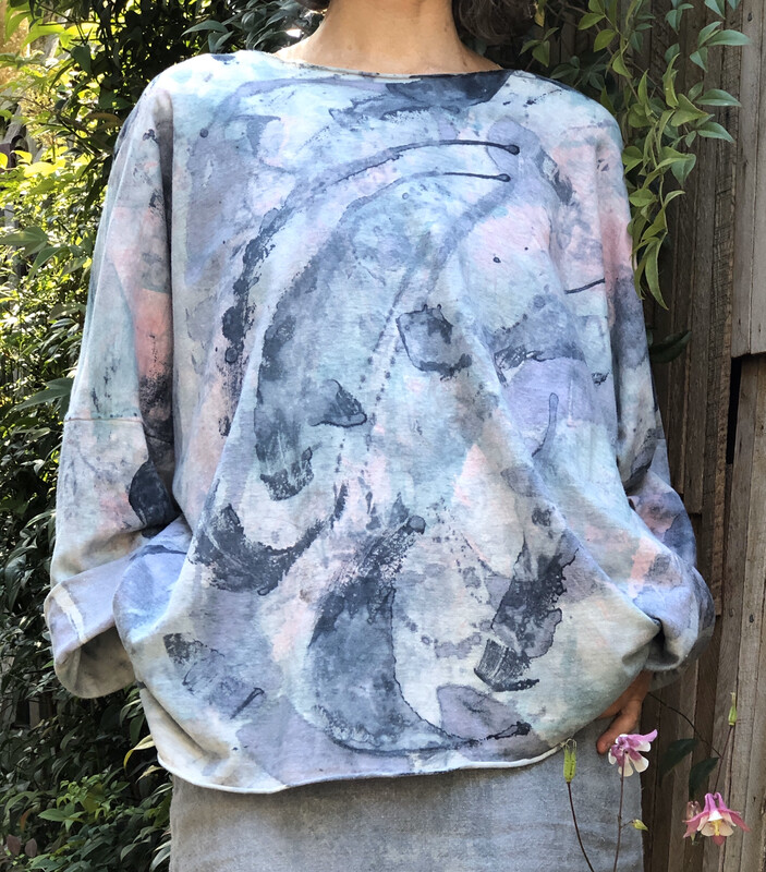 Blue Pink Art Top