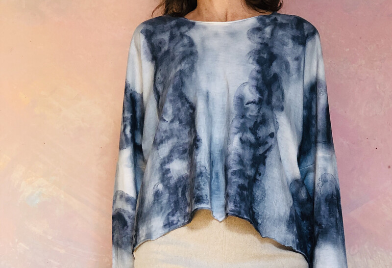 Indigo Art top