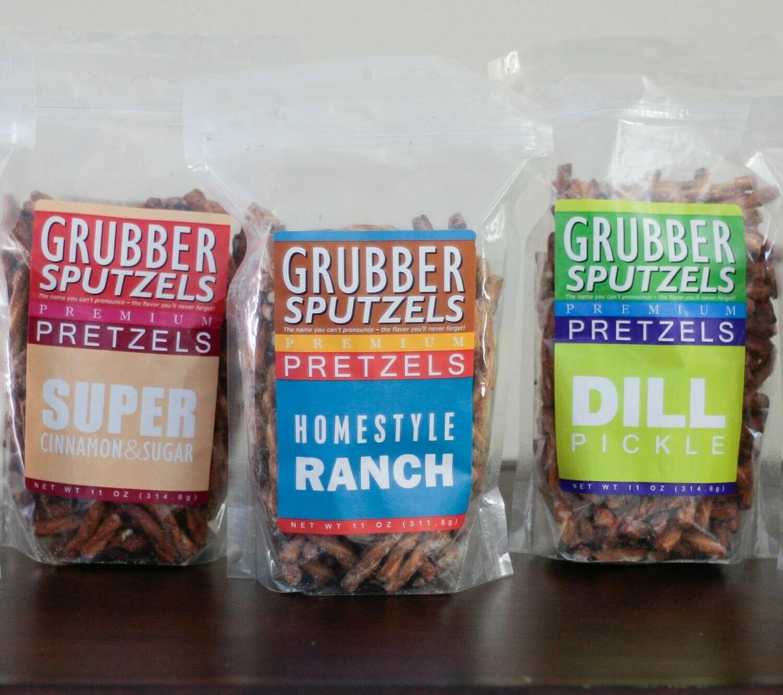 Grubbersputzels Premium Pretzels Variety Pack