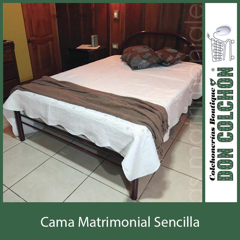 CAMA METAL MATRIMONIAL SENCILLA