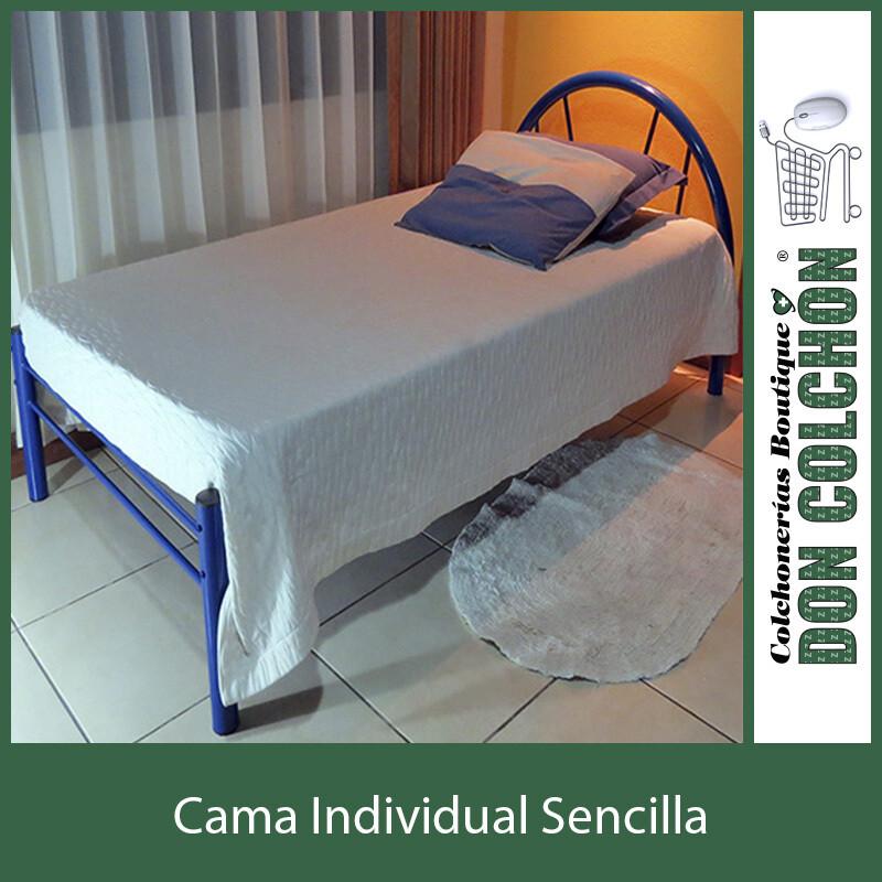 CAMA METAL INDIVIDUAL SENCILLA