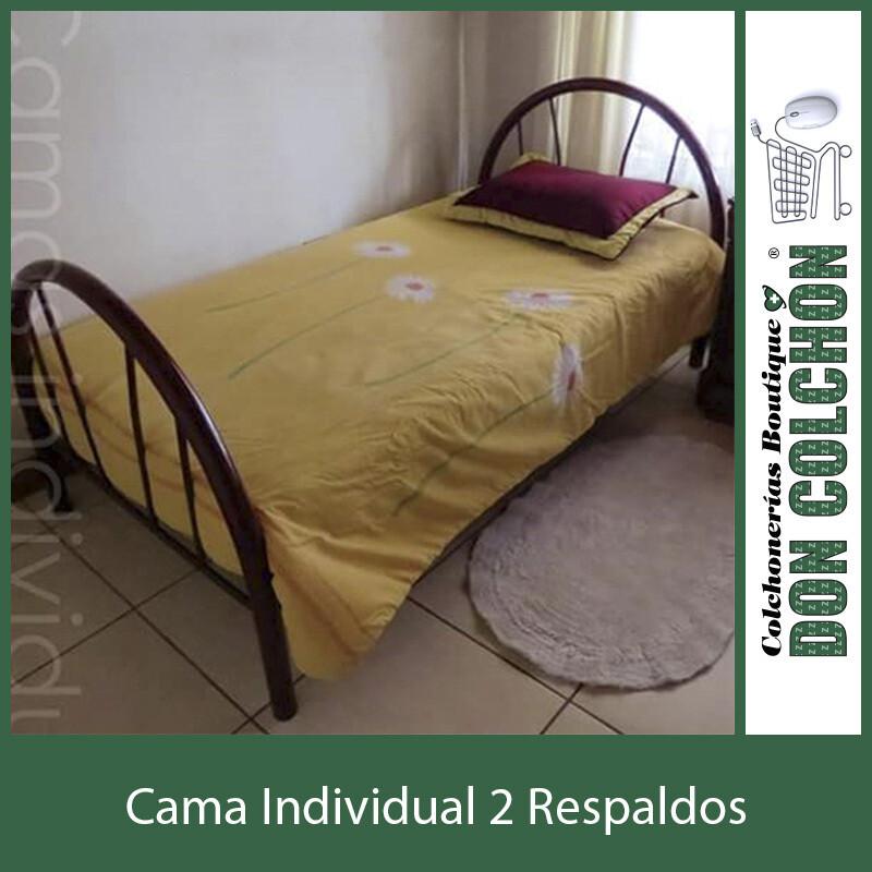 CAMA METAL INDIVIDUAL 2 RESPALDOS