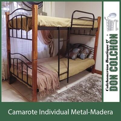 CAMAROTE METAL-MADERA INDIVIDUAL