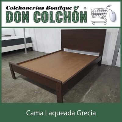 CAMA MATRIMONIAL GRECIA LAQUEADA