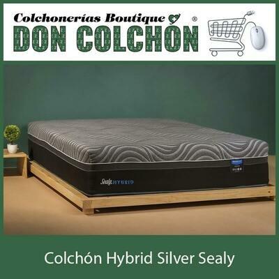 COLCHON QUEEN HYBRID SILVER SEALY