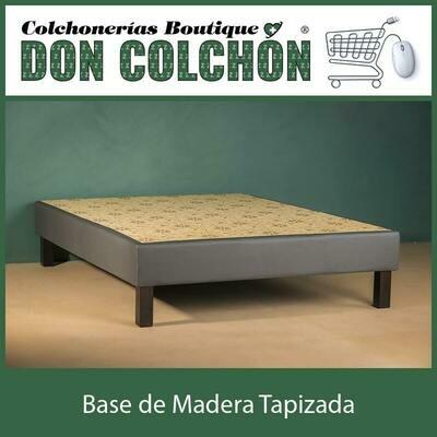 BASE KING DE MADERA TAPIZADA