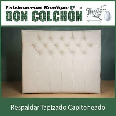 RESPALDAR MATRIMONIAL TAPIZADO CAPITONEADO