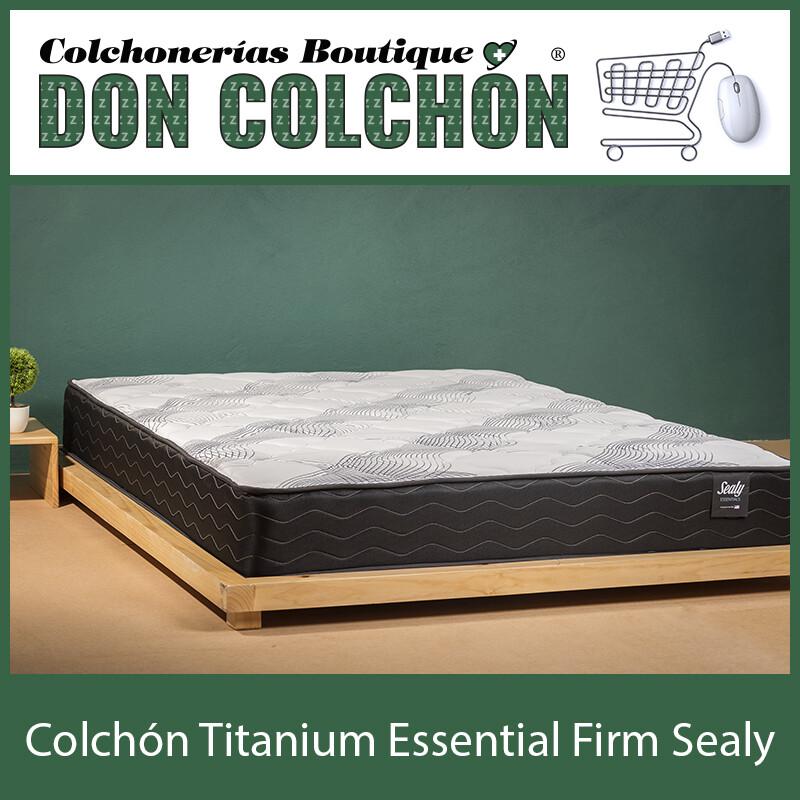 COLCHON MATRIMONIAL SEALY TITANIUM ESSENTIAL FIRM