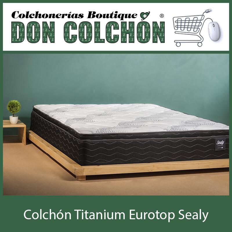 COLCHON KING SEALY TITANIUM EURO TOP
