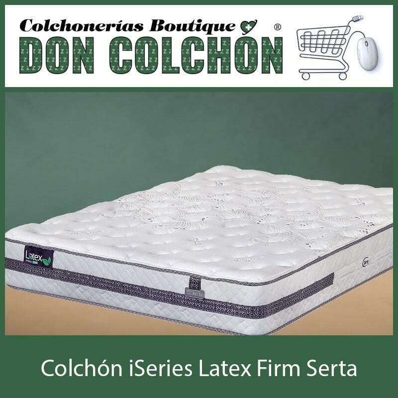 COLCHON KING ISERIES LATEX FIRM SERTA