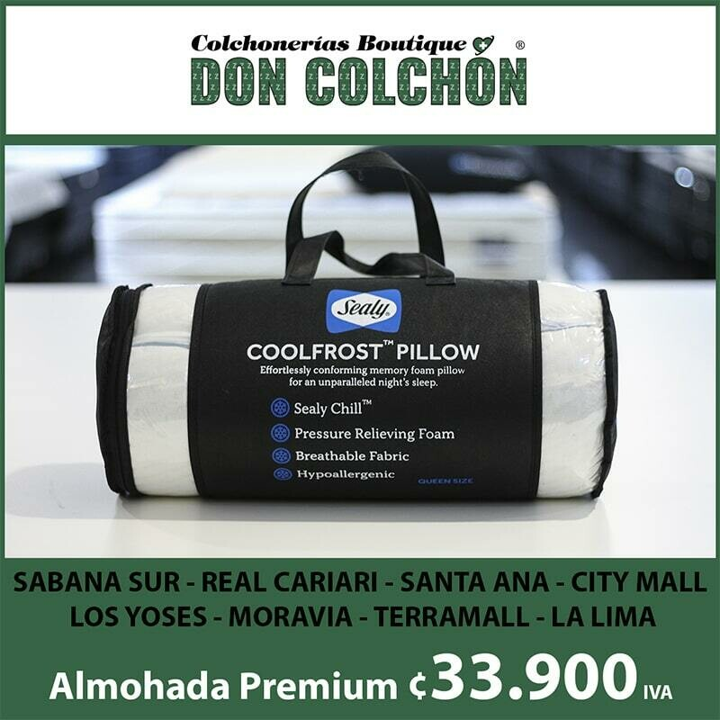 ALMOHADA COOLFROST MEMORY FOAM SEALY