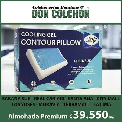 ALMOHADA CONTOUR GEL COOLING SEALY