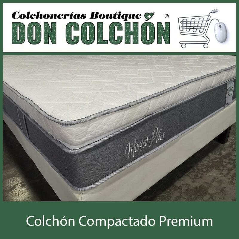 COLCHON QUEEN COMPACTADO PREMIUM PLUS