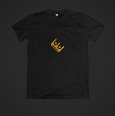 Black and Gold Logo Shirt