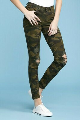 Camo Distressed Jeans  Only sizes 20 & 11 Left!