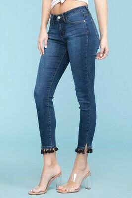 Tassle Hem Skinny Jean 3X to 0!!