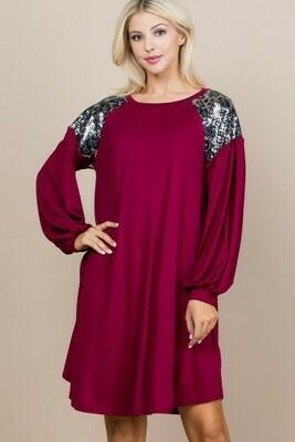 Metallic Shoulder Dress 2X to S!!