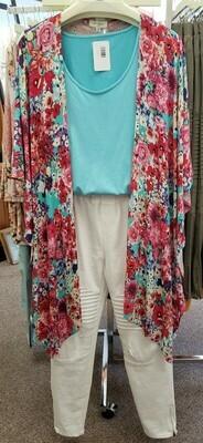 Floral Open Front Kimono