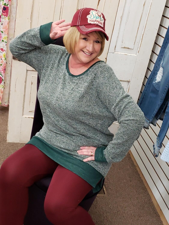 Heathered Long Sleeve Dress/Tunic 2XL to S!!