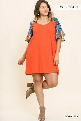 Square V Neck Dress - UMGEE