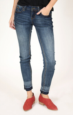 Side Slit 2 Tone Jeans  Sizes 34 to 26!