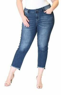 Fray Hem Easy Fit  Only Size 20 Left!!