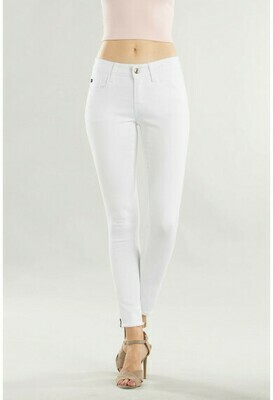 White Ankle Zip Jeans  3X to Size 7!!